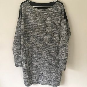Banana Republic Black Grey Shift Sweater Dress M